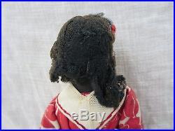 12 Antique Vintage Black Americana African American Cloth Rag Type Doll