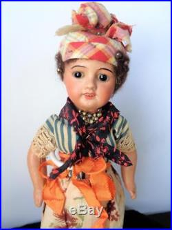 13 Antique UNIS France 60 Black Brown Bisque Doll French 71 149 SFBJ from Haiti