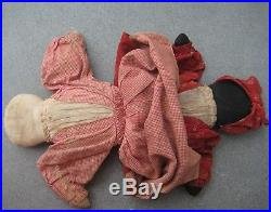 1800s ANTIQUE EARLY Americana TOPSY-TURVY African American HandMade CLOTH DOLL