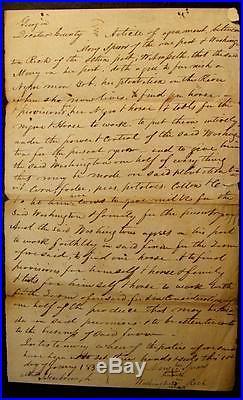 1835 Slave HIRE DocumentDECATUR CO. GEORGIA-NEGRO MAN TO WORK PLANTATION
