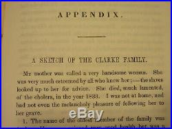 1845 Abolitionist Slave Narrative Book Sufferings Lewis Clarke Black Slavery KY