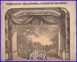 1846 Antique Slavery Banjo LithoBlack AmericanaOld Racist Minstrel Sheet Music
