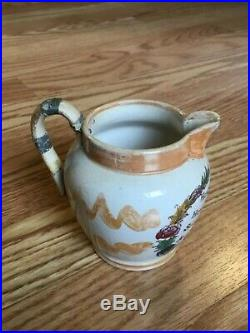 1850s Transferware Cream Pitcher Abolitionist Anti-Slavery FREEDOM TO THE SLAVE