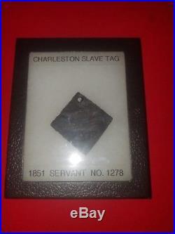 1851 Charleston South Carolina slave tag servant