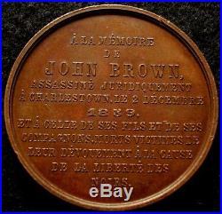 1859 John Brown Abolitionist Medal RARE