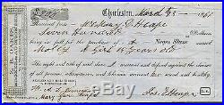 1861 Charleston Receipt for Sale of a Negro Slave, Molly a Girl 15 Years Old