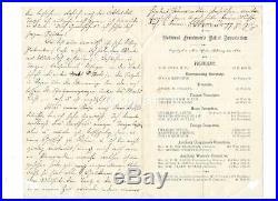 1862 Rare National Freedmans Relief Association Ny Broadside Letter Officer List