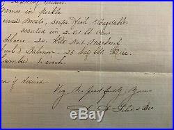 1862 Slave Trader Letter Angola Africa Ship Triangle Trade Slavery Manuscript
