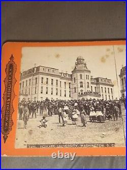 1867 Howard UniversityWashington DC OpeningDay Crisp Color Stereoview Photo