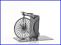 1870 High Wheeler Penny Farthing Bicycle Metal Bookend Model 12 Cycling Decor