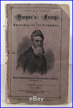 1872 John Brown / Anti-slavery / Harpers Ferry Raid Book In Illustrated Wraps