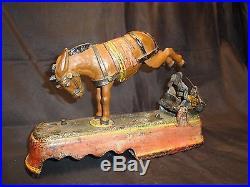 1879 J&E Stevens cast iron I always did spise a mule Mechanical Bank NR $5000