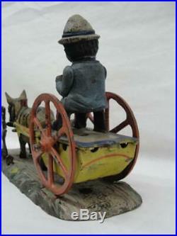 1880 J&e Stevens Cast Iron Original Bad Accident Mechanical Bank Black Americana
