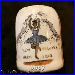1890s NEW ORLEANS / MARDI GRAS PORCELAIN SOUVENIR CUP. BLACK AMERICANA. L@@k
