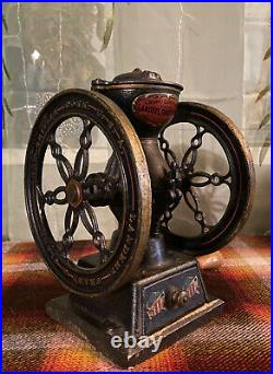 1901 Landers Frary & Clark #20 Cast Iron Coffee Grinder Original Paint