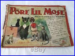 1902 Pore Lil Mose His Letters to his Mammy RF Outcault Rare 1st Black Comic