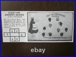 1907 Black Americana Pickaninnies Mechanical Puzzle Postcard With Solution