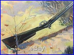 1908 Black Americana Remington Rifle Antique Advertising Art Print Cabin Lodge