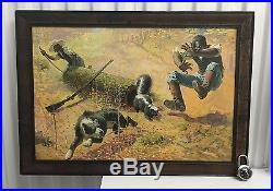 1908 Black Americana Winchester Rifle Antique Advertising Art Print Cabin Lodge