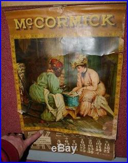 1908 Mccormick deering litho Calendar Black Americana