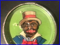 1910's Germany Tin Toy Dexterity Skill Puzzle Game Black Americana Man & Teeth