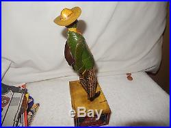 1916 Ferdinand Strauss Black Americana Alabama Coon Jigger Tombo tin windup toy