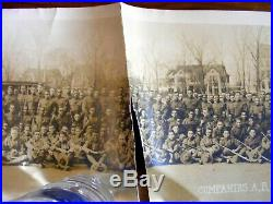 1918 African American WWI Army Howard University S. A. T. C. Panoramic Photograph