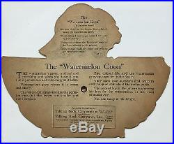 1919 Watermelon Coon Emerson Talking Book Record 78rpm Die-Cut Picture Disc