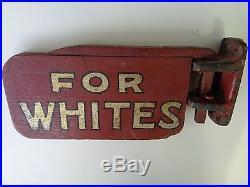 1920's Colored Whites Segregation Sign