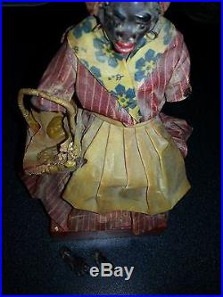 1920s ANTIQUE NEW ORLEANS VARGAS WAX BLACK DOLL