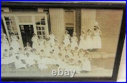 1920s long framed photograph of black nurses