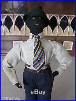 1920s or 1930s Black Folk Art Doll extremely rare original hand made