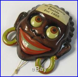 1925 mechanical AFRICAN NATIVE racist penny toy pin pinback brooch GERMANY