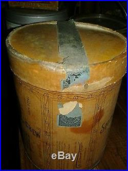 1926 Bigger Hair vintageTobacco Canister/tin Black Americana Rare w tax stamp