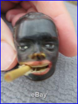 1930's BLACK AMERICANA MAN WITH CIGARETTE CELLULOID TAPE MEASURE