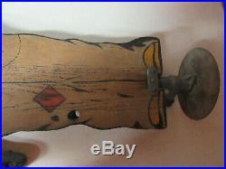 1930's Rare Original Sprinklin Sambo Wood Firestone Yard Lawn Water Sprinkler