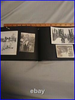 1930s/50s Antique African American Photo album 53 photos military females