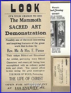 1930s BLACK FOLK ARTREV. ELIJAH PIERCEVINTAGE POSTER & EPHEMERACOLUMBUS, OHIO