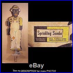 1930s Black Americana Sprinkling Sambo Figural Lawn Water Sprinkler