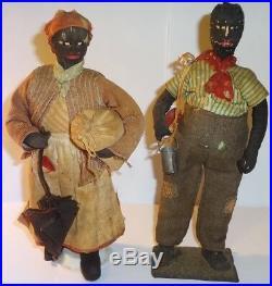 1930s WPA Alabama Primitive Folk Art Black Americana Dolls