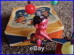 1938 Black Americana Wind Up Celluloid Toy in box Best Maid Pickiniy Pickaninny