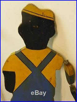 1940's ORIGINAL LAWN SPRINKLER MAN FIGURAL BLACK AMERICANA. OUTSTANDING CONDITION