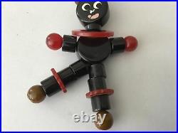 1940s Black Americana Boy Bakelite Crib Toy Teething String Free Ship