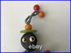 1940s Black Americana Boy/ Girl Bakelite Crib Toy Teething String Free Ship