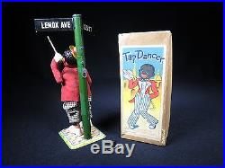 1940s OCCUPIED JAPAN ALPS TAP DANCER WIND UP ORIGINAL BOX & KEY BLACK AMERICANA