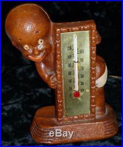 1947 Syroco Black Americana figurine thermometer holder