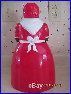 1950'S UNUSED AUNT JEMIMA COOKIE JAR & SET OF 6 SPICE SHAKERS