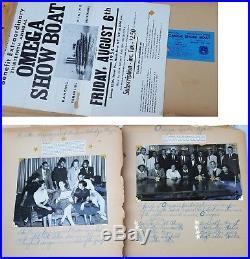 1954 African American- Omega Psi Phi Fraternity Scrapbook-photo album vtg Morgan