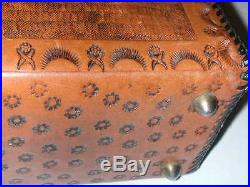 1960's Amazing Afro-American Tooled Leather Purse by WTF