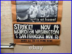 1967RARE AFRICAN AMERICANA Fight for Freedom Strike Poster ANTI WAR/CIVIL RIGHTS